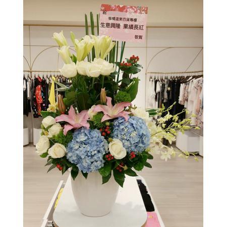 C011精緻盆花喜慶會場佈置盆花