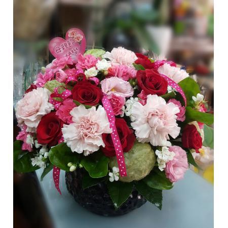 AB013精緻盆花母親節盆花