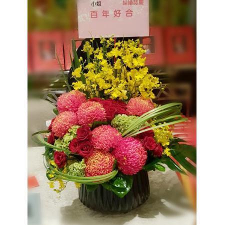 C015精緻盆花喜慶會場佈置盆花
