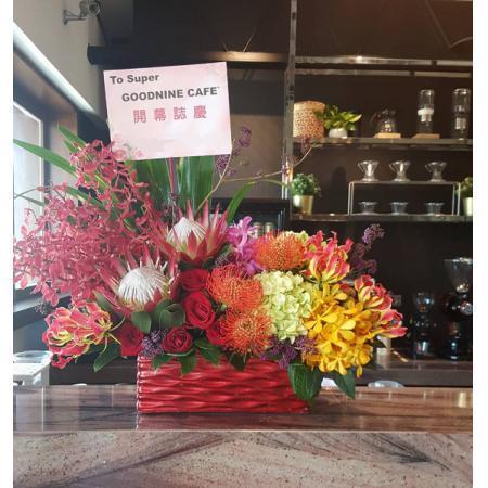 C020精緻盆花喜慶會場佈置盆花