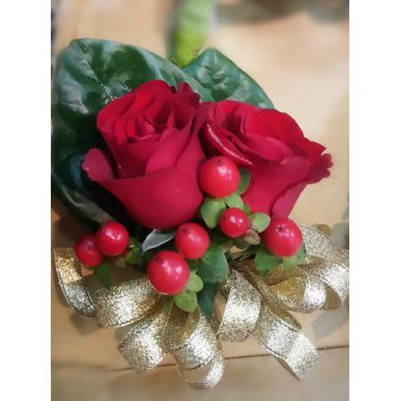 G007胸花-紅玫瑰(2朵)