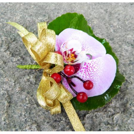 G020胸花-蝴蝶蘭(粉色斑點)