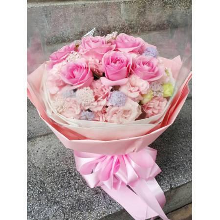 A012玫瑰花束情人節花束生日浪漫花束
