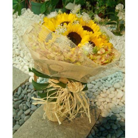 AC001畢業花束向日葵花束