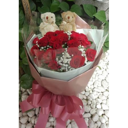 A016玫瑰花束情人節花束生日浪漫花束