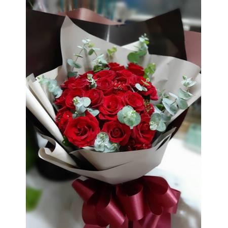 A020玫瑰花束情人節花束生日浪漫花束