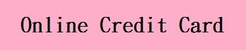 online credit card
