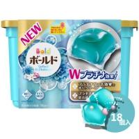 Z035(新包裝)日本P&G花香洗衣膠球-鉑金白葉(淺藍色)