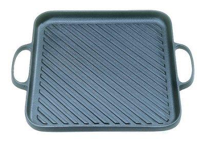 Z065日本南部鐵器盛榮堂斜紋導油鐵板-烤盤CA-31S(電磁爐可用)