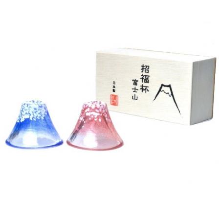Z092日本手工富士山琉璃杯