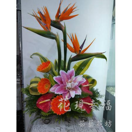 YS003天堂鳥藝術盆花