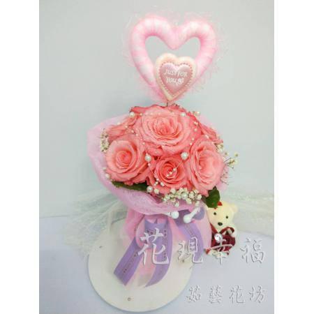 SU006我們交往吧浪漫玫瑰花束