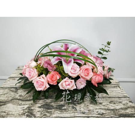 YS012玫瑰講台花