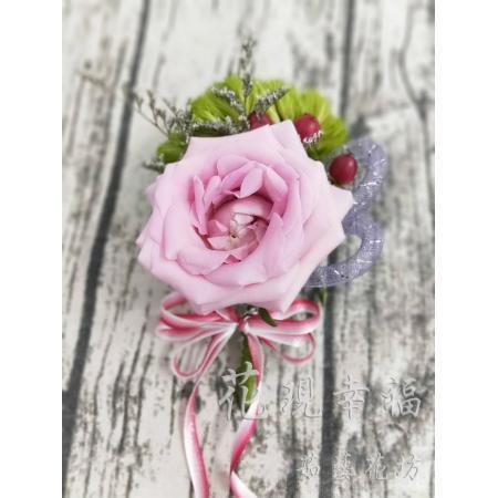 PS001粉玫瑰胸花