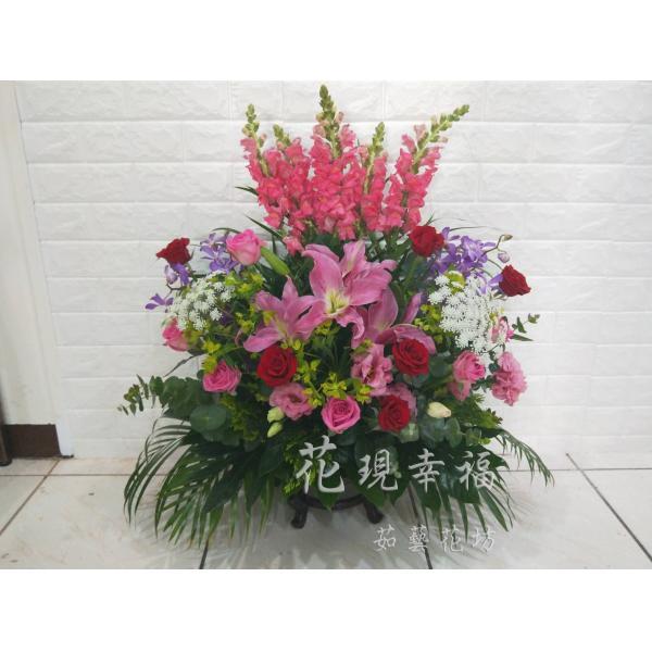 KM002開幕賀禮花籃盆花