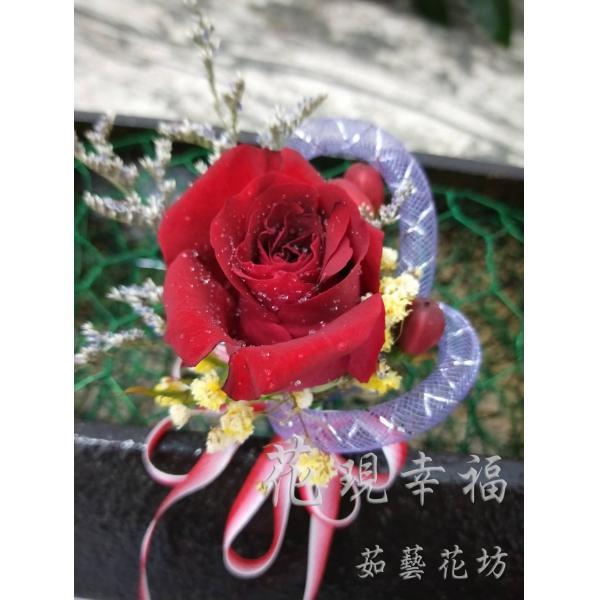 PS002紅玫瑰胸花