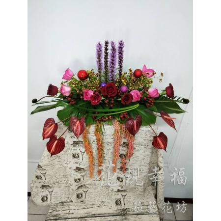 YS015玫瑰講台花