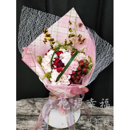 SU016綉母愛康乃馨花束