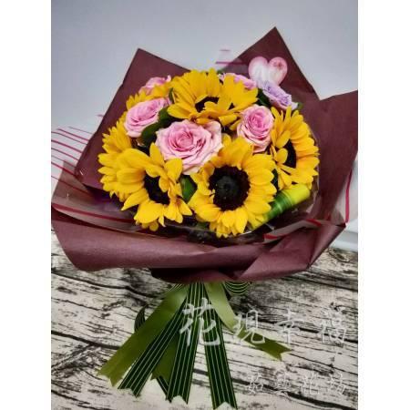 SU024畢業向日葵花束