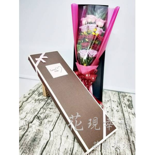 SU027玫瑰花盒花禮