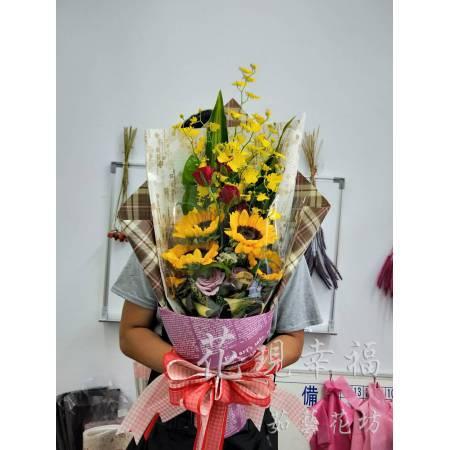 SU031畢業花束向日葵