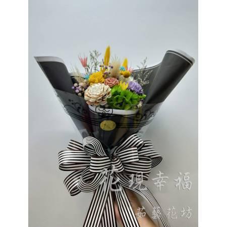 GZ011黑色圓舞曲乾燥花束