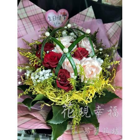 SU032一心一意玫瑰花束