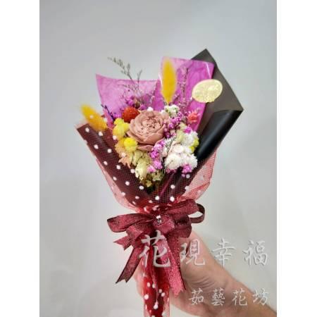 GZ015質感黑乾燥小花束