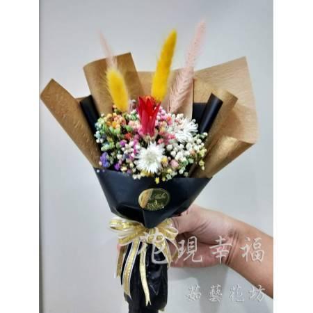 GZ016質感黑乾燥花束