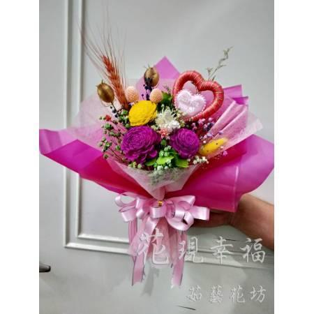 GZ017盛情粉乾燥花束