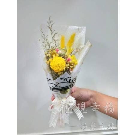 GZ018純潔白乾燥花束