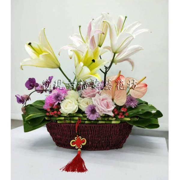YS061中國風藝術盆花
