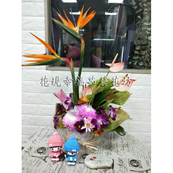 YS063[鳥鳴]藝術盆花