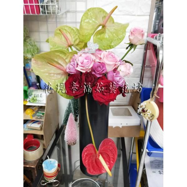 YS067藝術盆花