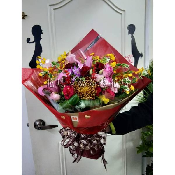 SU048[尊貴紅]生日花束