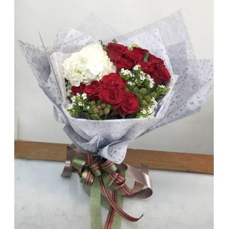 A006深情的祝福傳情花束情人節生日花束